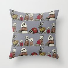 vintage chums Throw Pillow