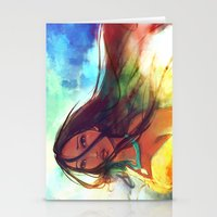 wind Stationery Cards featuring The Wind... by Alice X. Zhang