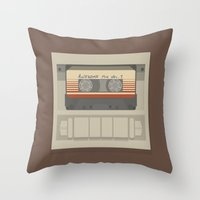guardians of the galaxy Throw Pillows featuring Guardians of the Galaxy by bbaaahh