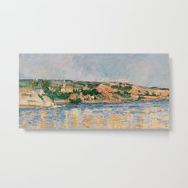 Paul Cézanne - Village at the Water's Edge Metal Print