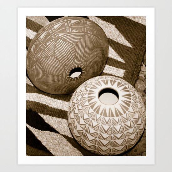 Indian Pottery Art Print