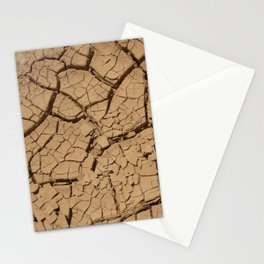 Dry ground in Death Valley Stationery Cards