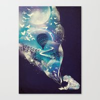 dreamer Canvas Prints featuring Dream Big by dan elijah g. fajardo