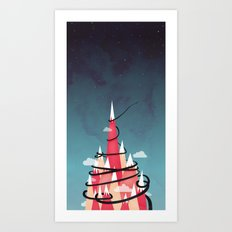Up To The Stars Art Print