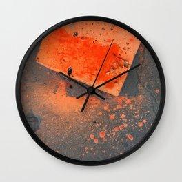NVSV SPCS_orange concrete Wall Clock