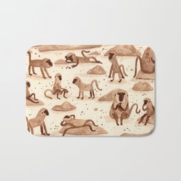 Baboons Bath Mat
