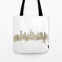 Houston Texas Skyline Sheet Music Cityscape Tote Bag