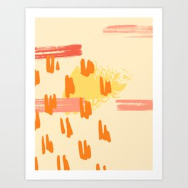 Terracotta Pastel Art Print Art Print