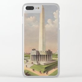 Currier & Ives. - Print c.1885 - The National Washington Monument Clear iPhone Case