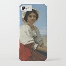"Hugues Merle ""Italian Girl"" iPhone Case"