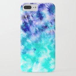 modern boho blue turquoise watercolor mermaid tie dye pattern iPhone Case