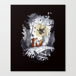 Fox and the Moth Canvas Print