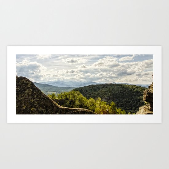 view from chimney mountain Art Print