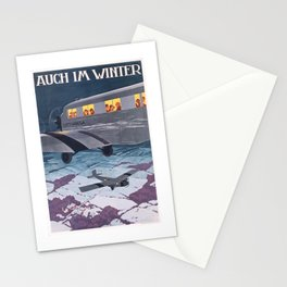1930 Lufthansa Airline German Travel Poster Stationery Cards