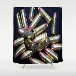 Cluster of 9mm Ammo Shower Curtain