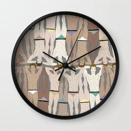 Retro Male Swimmers Wall Clock