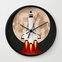Shuttle launch Wall Clock