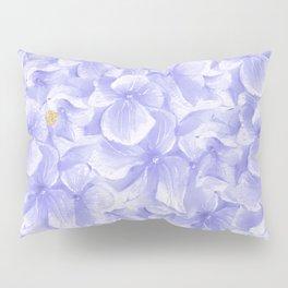 Elegant lavender white faux gold watercolor hydrangea flowers Pillow Sham