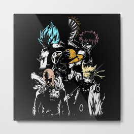 Anime Hero's 2 Metal Print