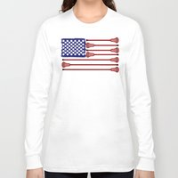 lacrosse Long Sleeve T-shirts featuring Lacrosse AmericasGame by YouGotThat.com