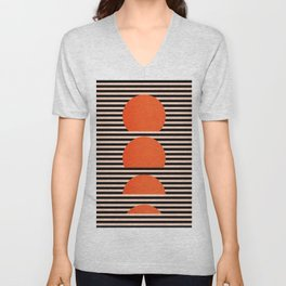 Abstraction_SUNSET_LINE_ART_Minimalism_001 Unisex V-Neck
