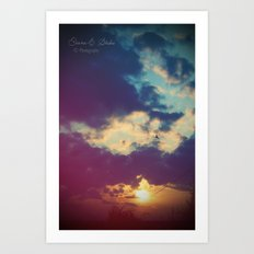 Stay with me for a while Art Print