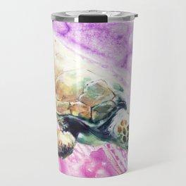 Sea Turtle in Pink and Purple Travel Mug