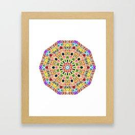 Elements forming a symmetrical mandala Framed Art Print
