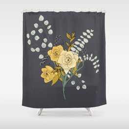 Eucalyptus and Freesia Florals Shower Curtain