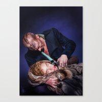 frankenstein Canvas Prints featuring Frankenstein by tillieke