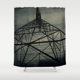 Power Lines Shower Curtain