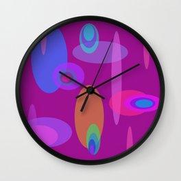 Magenta Mod Solar System Wall Clock