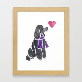 Watercolour Standard Poodle Framed Art Print