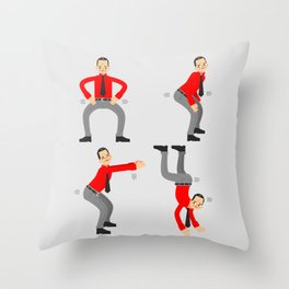 KRAF-TWERK Throw Pillow
