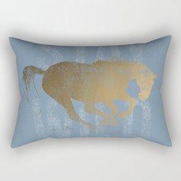 Horse (Stay Wild) Rectangular Pillow