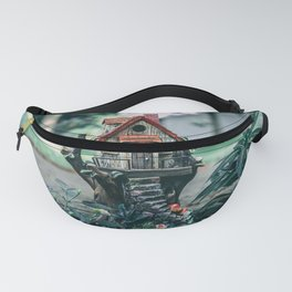 brown-and-red-birdhouse Fanny Pack