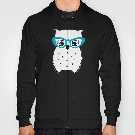 Cute Owl Glasses Hoody