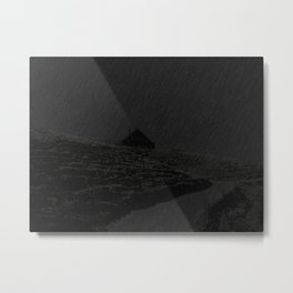 THE NIGHT IS BLACK Metal Print