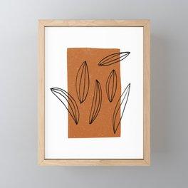 Autumn Scribble Framed Mini Art Print