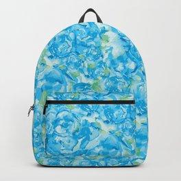 Blue Rose Garden Backpack