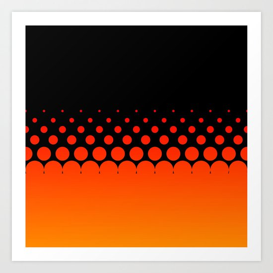Orange Fade Art Print