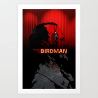 birdman Art Prints featuring Birdman by edgarascensao