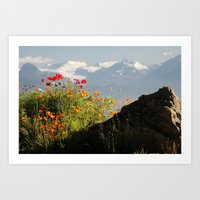 Springtime in the Mountains, Homer, Alaska Art Print