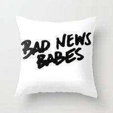 Bad News Babes Throw Pillow