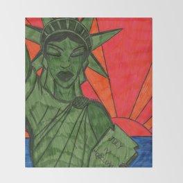 Liberty on Break Throw Blanket