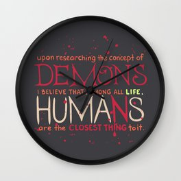 Parasyte Quote Typography Wall Clock