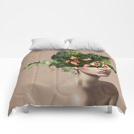 Lady Flowers llll Comforters