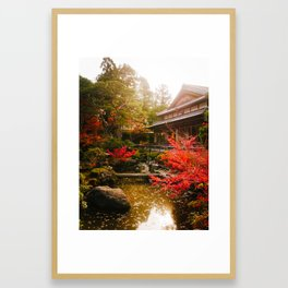 Japanese Garden Framed Art Print