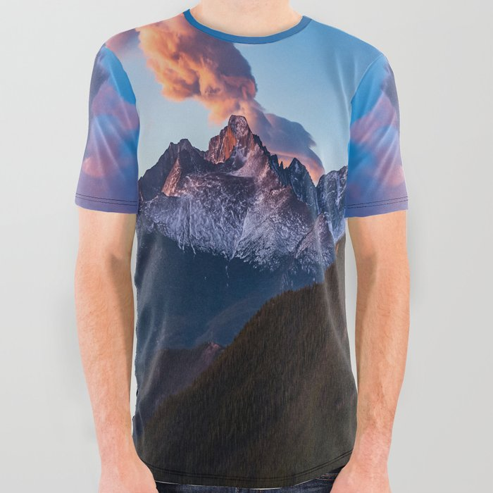 Fire_on_the_Mountain__Sunrise_Illuminates_Cloud_Over_Longs_Peak_in_Colorado_All_Over_Graphic_Tee_by_Sean_Ramsey__Large