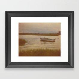 Boat in Marsh Framed Art Print